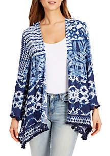 Tie-Dye Tassel Kimono