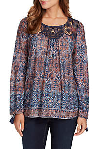 Marice Lace Paisley Top