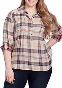 Plus Size Celeste Henley Shirt