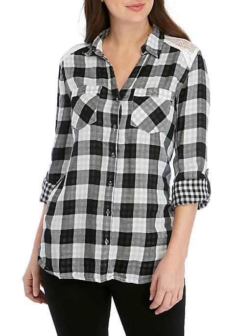 Chiara Double Checker Plaid Shirt