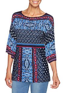 Beaujolais Jacquard Pullover Sweater