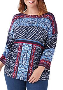 Plus Size Jacquard Sweater