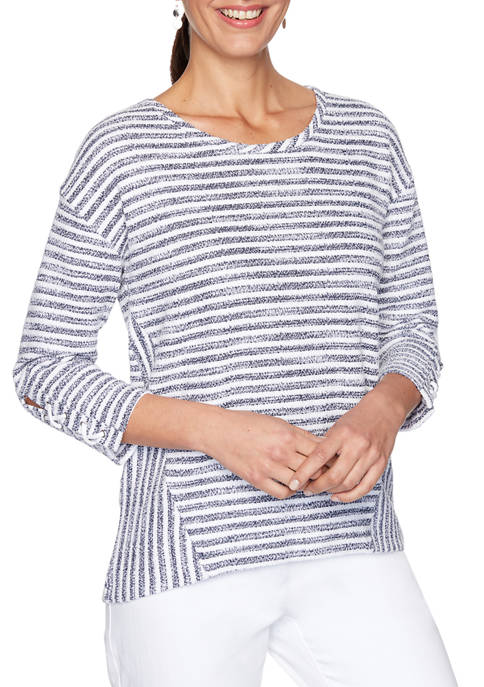 Womens Nautical Striped Pullover