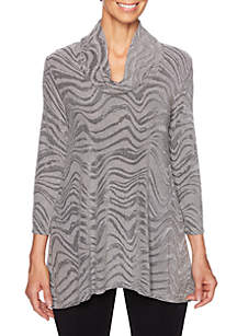 Night and Day Burnout Rib Knit Top