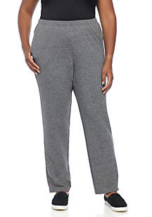 Plus Size Gray Night and Day Jaspe Pant