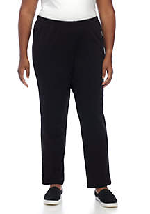 Plus Size Black Night and Day Jaspe Pant