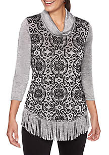 Petite Night & Day Cowl Neck Hatchi Pullover