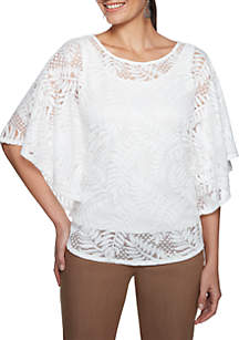 Natural Wonders Lace Butterfly Top