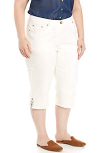 Plus Size Embellished Clamdigger Pants