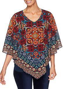 Spice Market Hankerchief Printed Woven Top