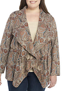 Plus Size Tapestry Jacket