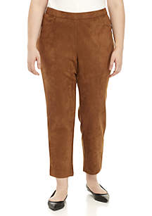 Plus Size Wild Side Pull-On Suede Pant