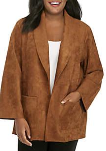 Plus Size Wild Side Suede Jacket