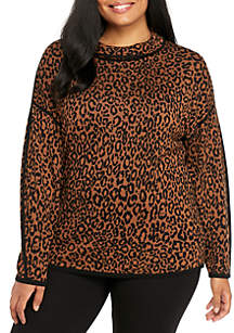 Plus Size Jacquard Pullover Sweater