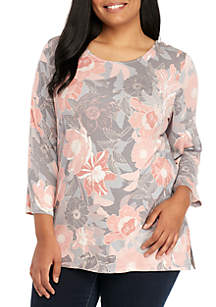 Plus Size Autumn Bloom Tunic