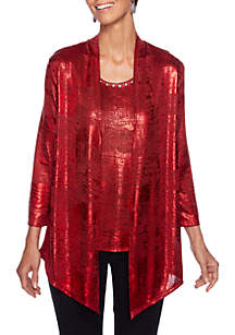 Petite Must Haves Foil 2Fer Top