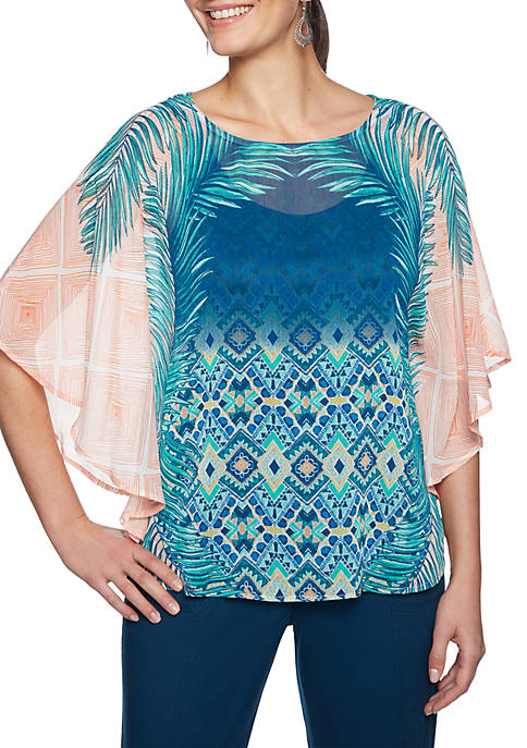 Ruby Rd Swept Away Butterfly Top