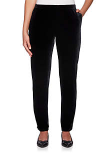Petite Velvet Crush Pull-On Pants