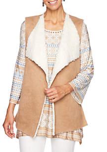 Warm and Cozy Suede Lamb Vest