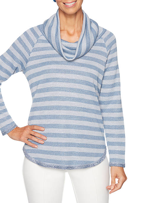 Ruby Rd Petite Warm and Cozy Metallic Knit