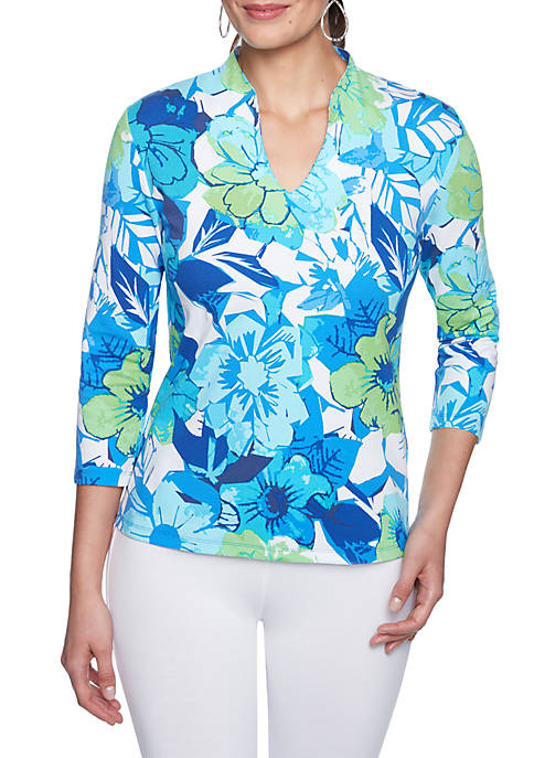 Ruby Rd Must Haves Floral Print Knit Top