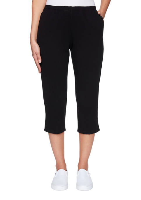 Womens Color Crush French Terry Capris