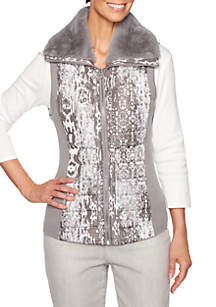 Shimmer and Shine Patchwork Vest