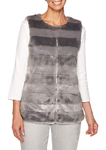Shimmer and Shine Striped Fur Vest