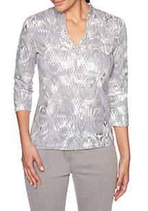 Shimmer & Shine Embellished Mirage Top