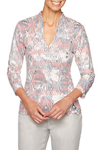 Shimmer & Shine Embellished Mirage Top