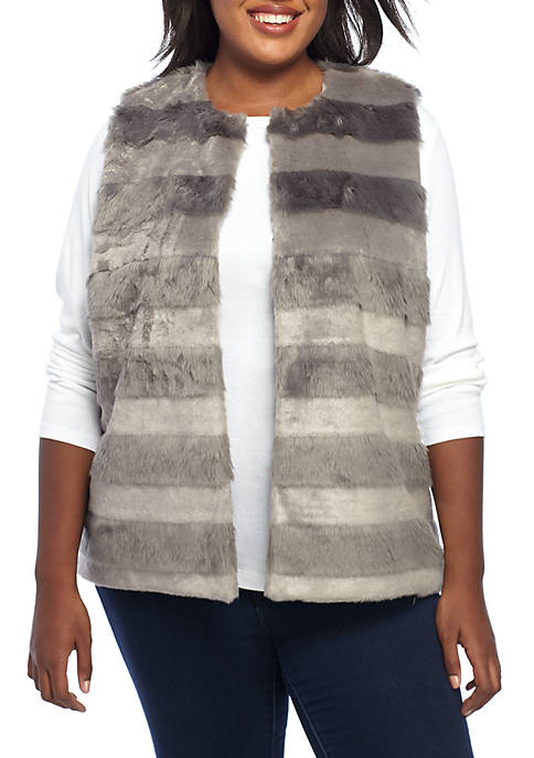 Shimmer and Shine Plus Size Striped Fur Vest