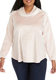 Shimmer and Shine Plus Size Animal Velour Pullover Top