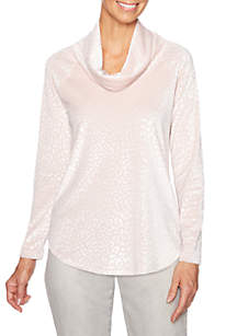 Petite Shimmer and Shine Animal Velour Pullover