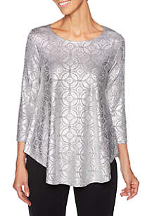 Petite Shimmer and Shine Shimmer Heather Knit Top