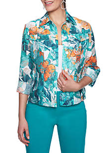 Key Items Floral Burnout Jacket