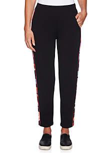 Printed Side Stripe Pant