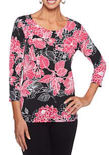 Tropical Twist Floral Printed Top