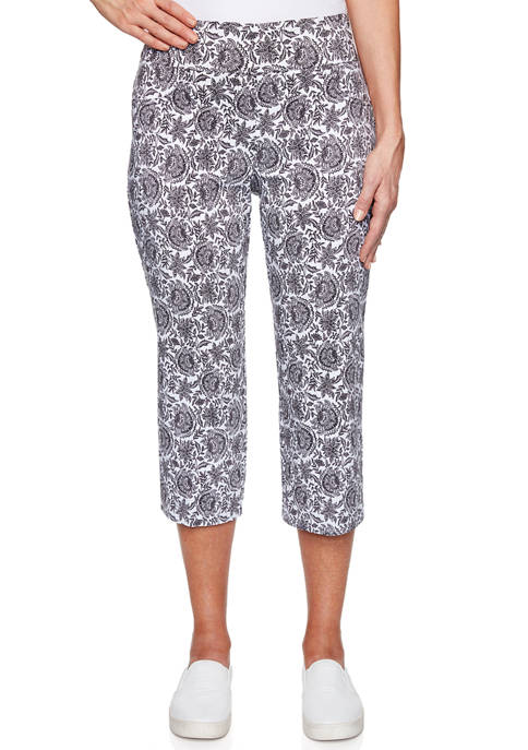 Ruby Rd Petite Pull On Tapestry Millennium Capris