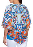 Womens Bright Idea 2020 Paisley Butterfly Sleeve Top