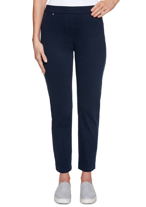 Ruby Rd Petite Pull On Twill Ankle Pants