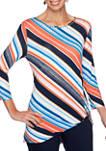 Petite Bright Idea Diagonal Stripe Knit Top