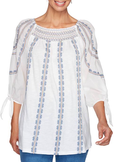Ruby Rd Womens Sand & Sea Cotton Modal