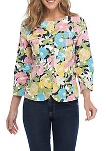 Spring Breeze Carnation Print Jacket
