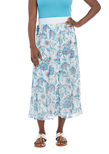 Petite Spring Breeze Entwined Print Skirt