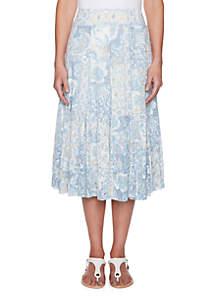 Plays the Blues Petite Knit Burnout Midi Skirt