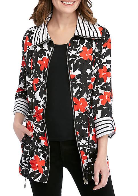 In The Mix Garden Print Jacket