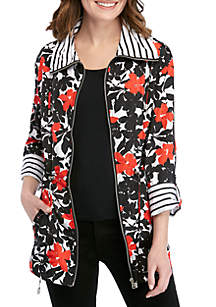 Ruby Rd In The Mix Garden Print Jacket