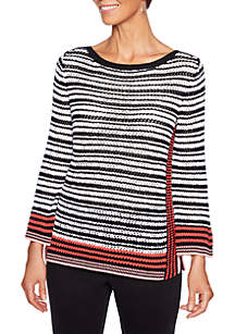In The Mix Stripe Pullover Sweater Sweatshirt