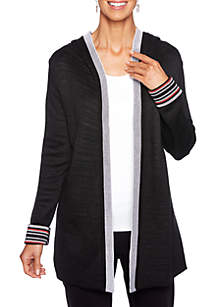In The Mix Open Front Stripe Sweater