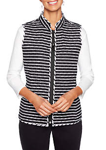 Petite In The Mix Reversible Quilted Vest